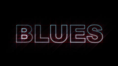 Blues LEDS 01 Stock Video Footage