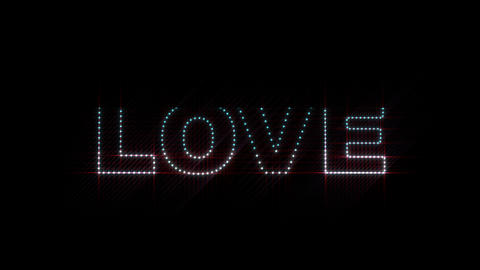 Love LEDS 01 Stock Video Footage