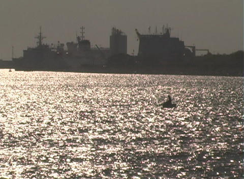 Boat Silhouette Stock Video Footage