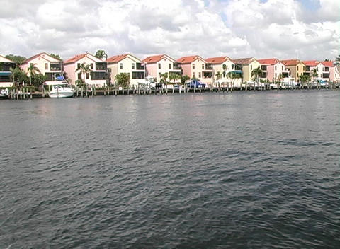 Intracoastal Condos Stock Video Footage