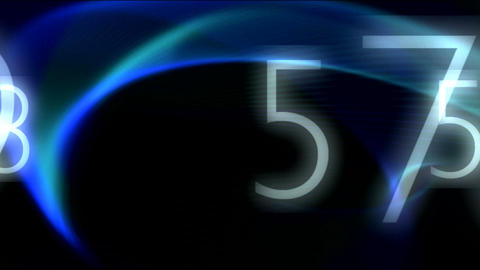 Blue background and numbers Stock Video Footage