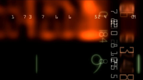 numbers matrix 01 Stock Video Footage