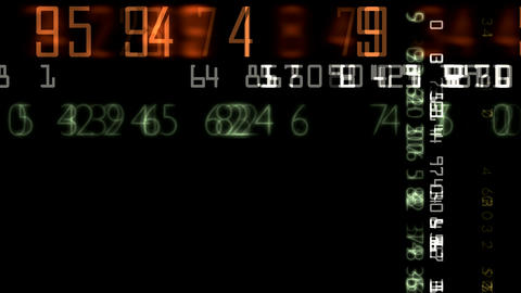 numbers random matrix HD Stock Video Footage