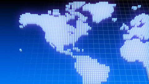 Map BlockGI W2 D Stock Video Footage