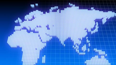Map BlockGI W4 D Stock Video Footage