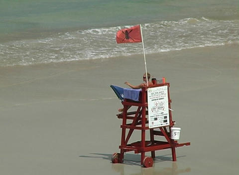 Beach Lifeguard Stock Video Footage