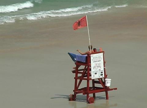 Beach Lifeguard Stock Video Footage