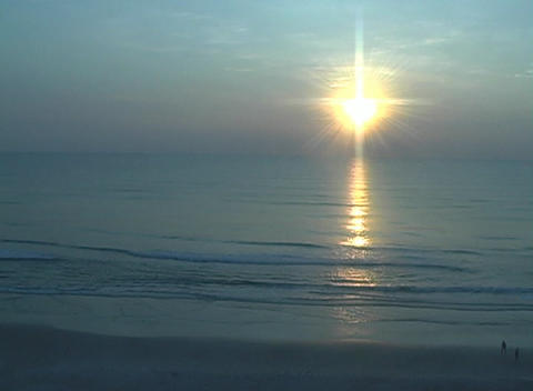 Beach Sunrise Stock Video Footage