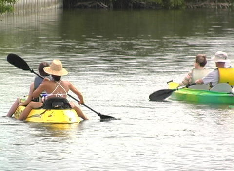 Kayak 3 Stock Video Footage
