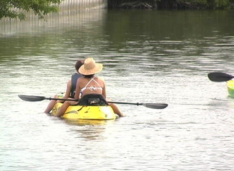 Kayak 3 Stock Video Footage