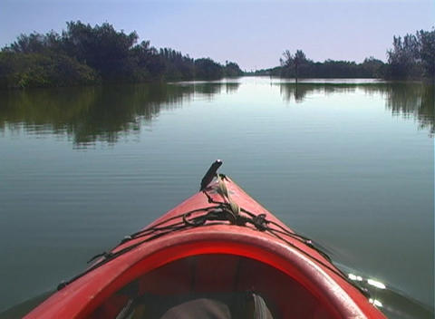 View from a Kayak Stock Video Footage