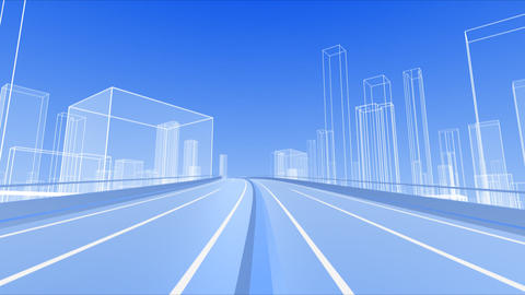 City Highway b Stock Video Footage