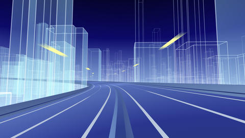 City Highway g Stock Video Footage