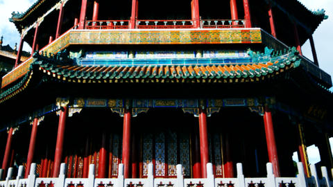 ancient building of China Stock Video Footage