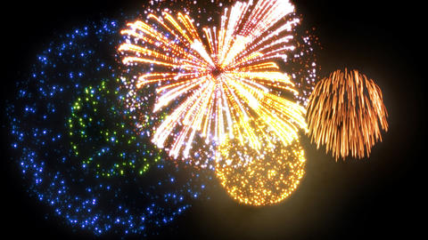 Fireworks HanabiTaikai A HD 動画素材, ムービー映像素材