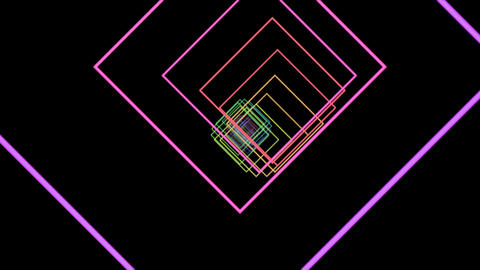 Rotated Square tunnel CG動画