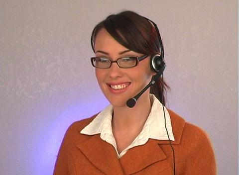 Beautiful Customer Service Operator-1 Stock Video Footage
