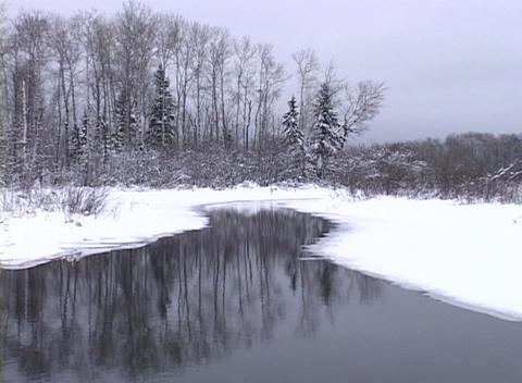 Snowy Stream Stock Video Footage