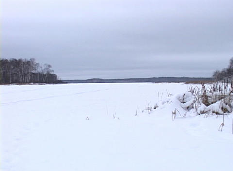 Snowy Landscape 1 Stock Video Footage