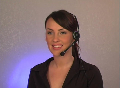 Beautiful Customer Service Operator-2 Footage