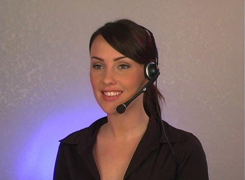 Beautiful Customer Service Operator-2 Stock Video Footage