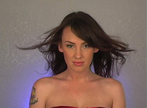 Close-up of a Beautiful, Sexy Brunette (1) Stock Video Footage