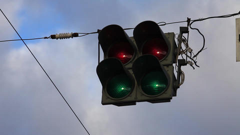 Stoplights Stock Video Footage