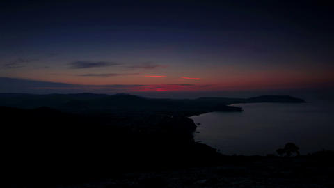 Timelapse sunrise in the mountains Sokol. Noviy Sv Stock Video Footage