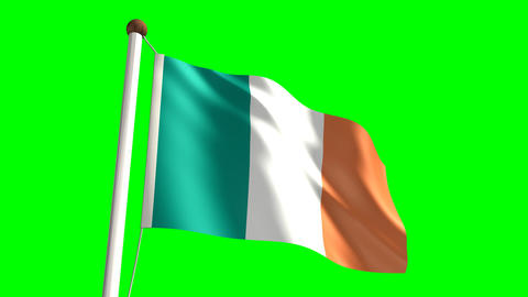 Ireland flag Stock Video Footage