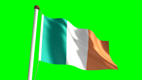 Ireland flag Animation