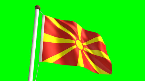 Macedonia flag Animation