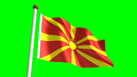 Macedonia flag Stock Video Footage