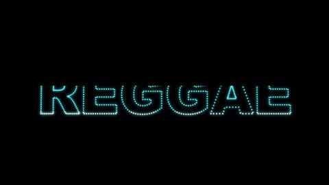 Reggae LEDS 02 Stock Video Footage