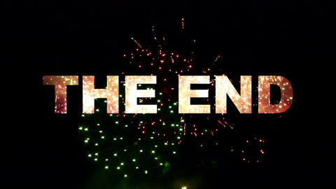 The End Fireworks 02 stock footage