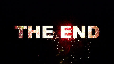 The End fireworks 02 Stock Video Footage