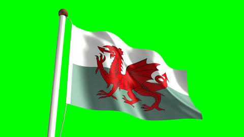 Wales flag Animation