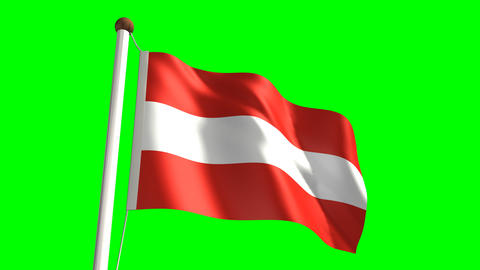 Austria flag Stock Video Footage