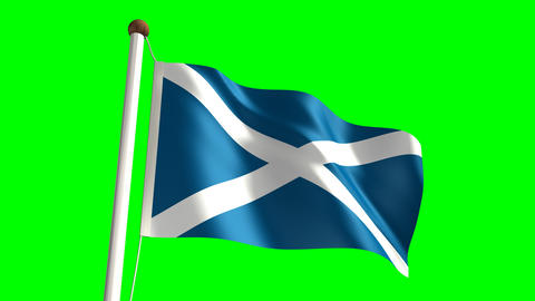 Scotland flag Stock Video Footage
