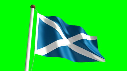 Scotland flag Animation