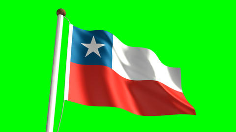 Chile flag Animation