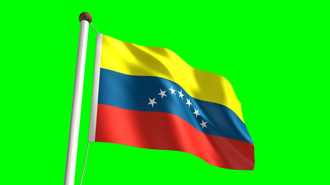 Venezuela flag Stock Video Footage