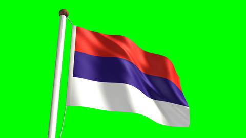 Serbia flag Stock Video Footage