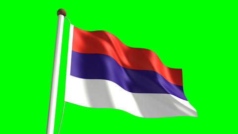 Serbia flag Animation