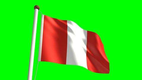 Peru flag Stock Video Footage