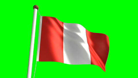Peru flag Stock Video Footage
