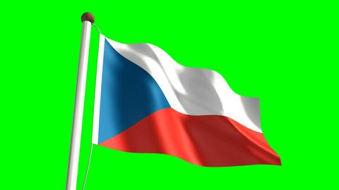 Czech Republic flag Animation