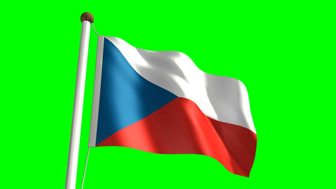 Czech Republic flag Stock Video Footage