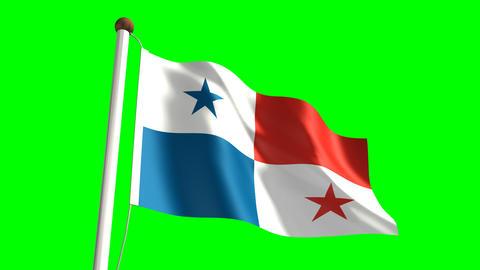 Panama flag Stock Video Footage