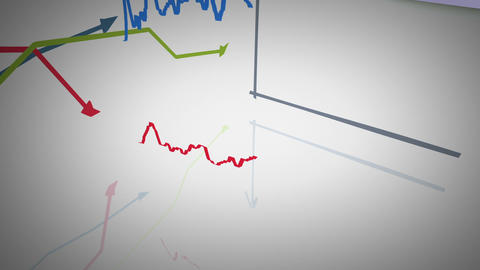 growing and changing graphs Stock Video Footage