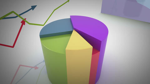 Growing And Changing Graphs stock footage